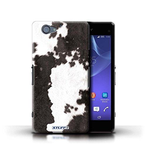 Kobalt® Imprimé Etui / Coque pour Sony Xperia A2 / Girafe conception / Série Motif Fourrure Animale Vache/Noir
