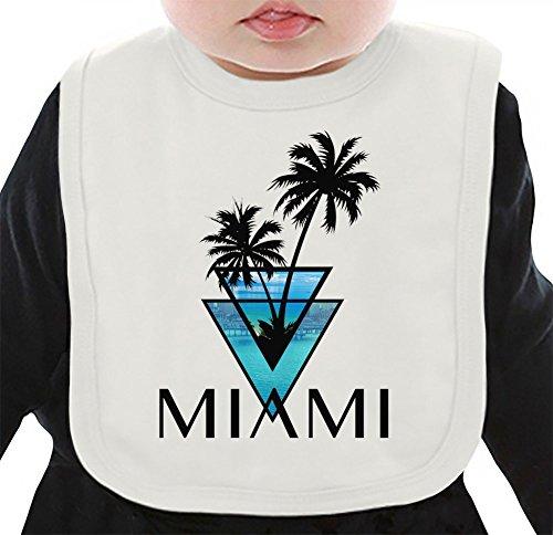 Miami Car Flag (miami triangle palms city ocean Organisches Lätzchen Medium)