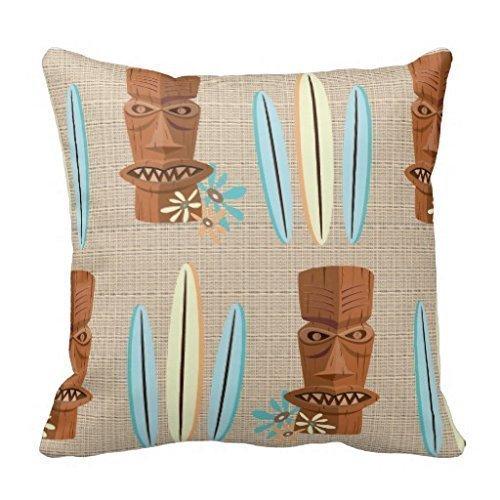 Gary S.Shop Tiki Man Surf Home Decor Pillow Case 18 x 18 Inch
