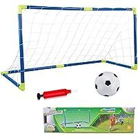 AnJanLe Juguete de Mini portería de fútbol para niños, jardín, 120 x 62 x 46 cm