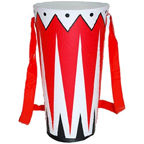 Aufblasbare Trommel 30cm Dekoration Musik Drum aufblasbar Musikinstrument Partydeko (Aufblasbare Trommel)