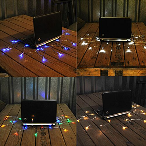 Lightsgo USB Powered Fairy Lights, Blue, 50 LED 3m