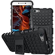 Oppo A83 Armor Defender Series Dual Protection Layer Hybrid TPU Kickstand Case Cover