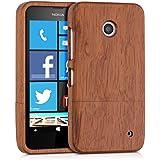 kwmobile Hülle für Nokia Lumia 630 - Rosenholz Case Handy Schutzhülle - Hardcase Cover Braun