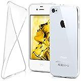moex iPhone 4S | Hülle Silikon Transparent Klar Clear Back-Cover TPU Schutzhülle Dünn Handyhülle für iPhone 4/4S Case Ultra-Slim Silikonhülle Rückseite