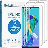 Beikell [3 Stück] Schutzfolie Kompatibel mit Huawei P30 Pro, Klar TPU Weich Folie mit Vollständige Abdeckung, Ultra-HD, Blasenfrei, gegen Kratzer für Huawei P30 Pro