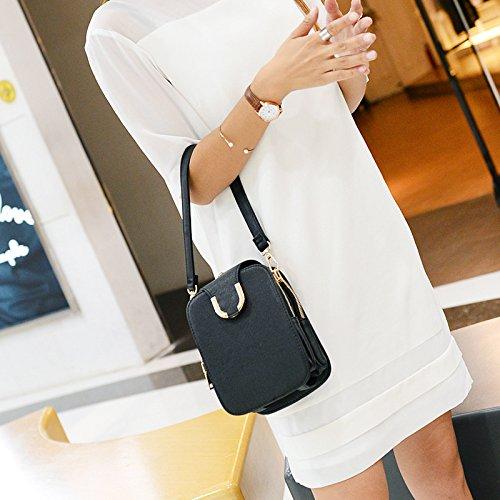 DJB/Damen Schulter Taschen Freizeit Taschen Tide Handy Paket Schwarz