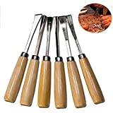 Premium Wood Chisel Set, Chrome Manganese Blades for Woodworking, Carving Woodworking Chisels (6 Pieces)