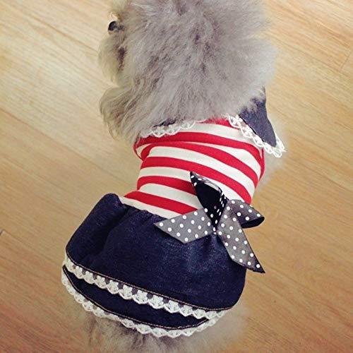yiopk Hunderock Princess Teddy Rock Frühling und Sommer Hund Kleidung Haustier Kleidung Pudel dünner Rock Katze Kleidung