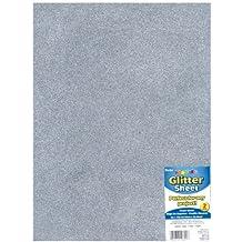 Glitter Foam Sheet 9X12 2mm-Silver by Darice