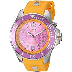 KYBOE! 'Power' Quartz Stainless Steel and Silicone Casual Watch, Color:Yellow (Model: KY.48-024.15)