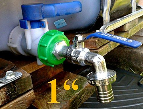 inscale IBC Bouchon et robinet en laiton pour tuyau d'arrosage 2,5 cm à