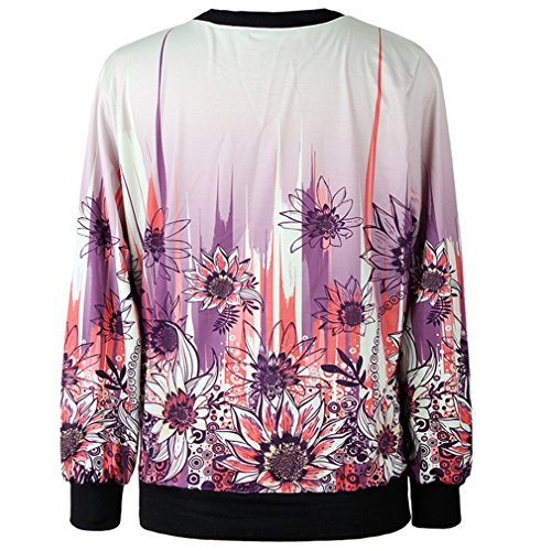 THENICE Femme manches longues Sweat-shirts sunflower