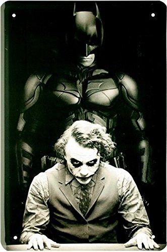 Blechschild 20x30 cm Batman Joker DC Comic Superheld Film Cartoon Metall Schild