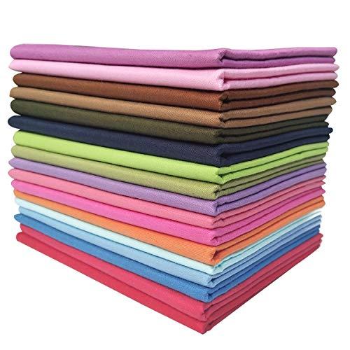 YXJD 17 Stück Baumwollstoff Patchwork Stoffe DIY Gewebe Quadrate 100% Baumwolltuch Stoffpaket zum Nähen 46x56cm Mehrfarbig für Handarbeiten