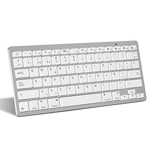 Bluetooth-Teclado-Espaol-OMOTON-Ultra-delgado-Mini-Para-iPhone-iPad-Air-iPad-ProiPad-Mini-y-Todas-Sistemas-de-iOS-No-se-adapta-a-Macbook-Blanco