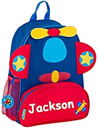 stephen joseph Personalized red and Blue Airplane Sidekick Backpack with  Name 3f4ec413a73d9