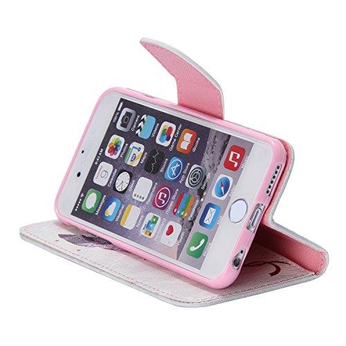 ARTLU® iPhone 6/6S Hülle im Bookstyle PU Leder Flip Wallet Case Schutzhülle für Apple iPhone 6/6S (4.7 Zoll) Tasche Handytasche mit Magnetverschluss Kartenfach Standfunktion Muster Handyhülle- K14 M13