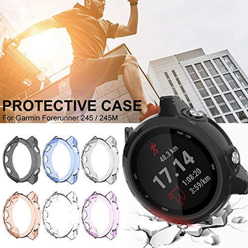 Nishci TPU-Schutzhülle, Displayschutzfolie Shell Kratzfest Ultra Clear Schutzhülle Kompatibel mit Garmin Forerunner 245 / 245M Smart Watch