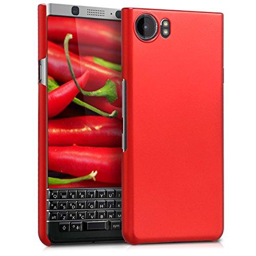 kwmobile Funda para Blackberry KEYone (Key1) - Carcasa Protectora [Dura] para móvil - Case Trasero [Duro] en [Rojo...