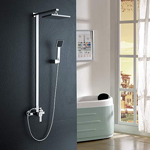 Auralum colonna doccia con miscelatore e doccetta,8
