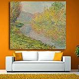 PAINDYH Quadri e Stampe di paesaggi Astratti impressionisti Quadri su Tela Dipinti ad Olio Immagini per pareti per Soggiorno_24X24=60X60cm