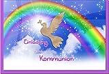 metALUm Einladungskarten zur Kommunion (10 er Set)'Regenbogen'