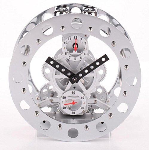 Bell/metal gear scheletro vibrazione allarme Camera orologio orologio , (Scheletro Orologio Da Tavolo)