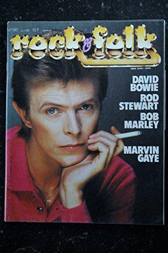 ROCK & FOLK 197 DAVID BOWIE ROD STEWART BOB MARLEY MARTIN GAYE