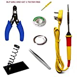 #9: HRDEALS Buy 6 in 1 Economy Soldering iron Kit/electric Soldering iron kit 6 in1 and Get Free One Tester