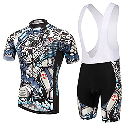 Skysper Men Comfortable Stylish Cycling Clothing Set Short Sleeve Cycling
