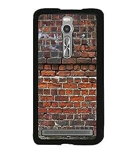 PrintVisa Designer Back Case Cover for Asus Zenfone 2 ZE551ML (Fire Brick Wall Pattern)