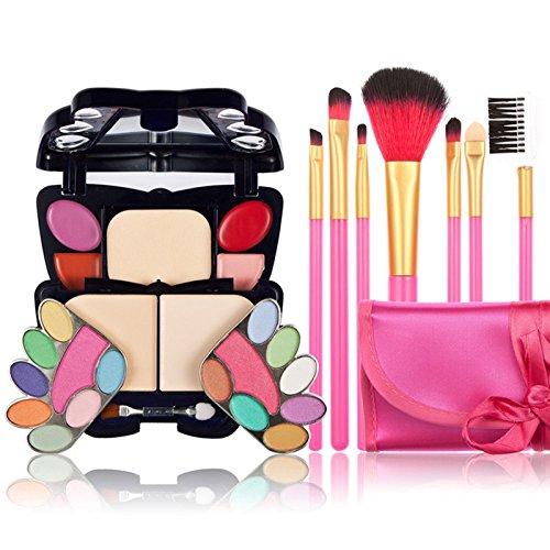Reixus(TM) 22Color Verfassungs-Paletten-Gesichtscreme Lidschatten Lippen Blusher Concealer Basis Contour + 7 PCS B¨¹rsten maquiagem Cosmetics Kits ()