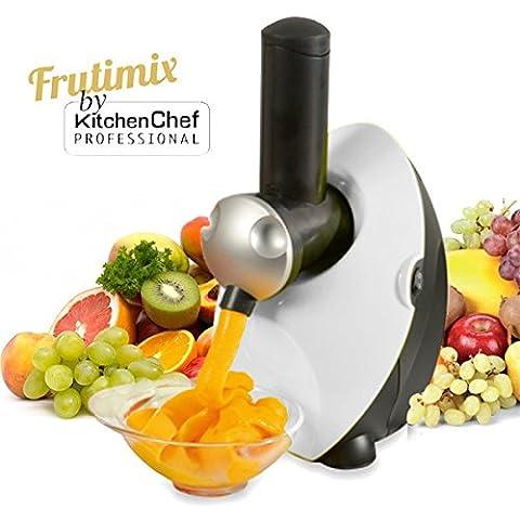 Kitchen chef - fdm1301w - Sorbetière à glaces naturelles 150w blanc FRUTIMIX