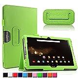 Acer Iconia One 10 B3-A30/A3-A40 Hülle, Infiland Slim Fit Folio PU-lederne dünne Kunstleder Schutzhülle Cover Tasche für Acer Iconia Tab 10 (A3-A40) 25,6 cm (10,1 Zoll Full HD) Tablet-PC/ Acer Iconia One 10 (B3-A30) 25,7 cm (10,1 Zoll HD) Tablet-PC(Grün)