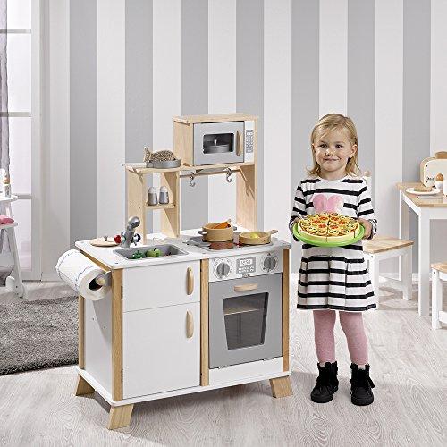 Howa cucina giocattolo in legno con piano di cottura led naturale bianco 4820 - Cucina giocattolo in legno ...