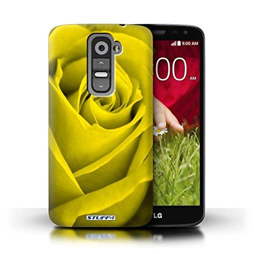 Kobalt® Imprimé Etui / Coque pour LG G2 Mini/D620 / Turquoise conception / Série Rose Jaune