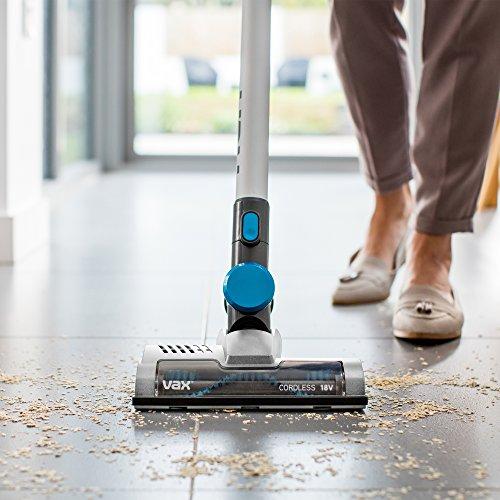 51IFRj6lxrL. SS500  - Vax Cordless SlimVac Vacuum Cleaner, 0.6 Litre, 18 V, 130 W, Silver/Blue