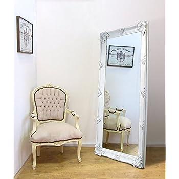 Extra Large White Ornate Wall Floor Mirror Amazon Co Uk