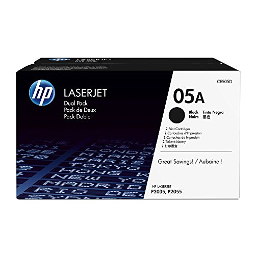 HP CE505D - Pack tóner, 2 unidades, color negro