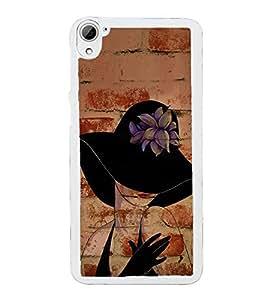 Fuson Designer Back Case Cover for HTC Desire 826 :: HTC Desire 826 Dual Sim (Girl With black Hat Beautiful Girl Cute Girl Gorgeous Girl Pretty Girl)