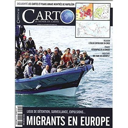 Carto N 50 - l'Accueil des Migrants en Europe - Novembre - Decembre 2018