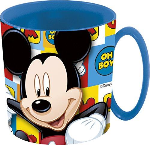 Unbranded 8020156 Mickey Icons Mug, Plastique, Bleu, 8 cm