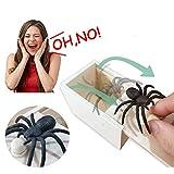 Araignee Boite Surprise, Prank Scare Spider Boite Effrayante en Bois Prank Spider Box pour Enfant Et Adulte
