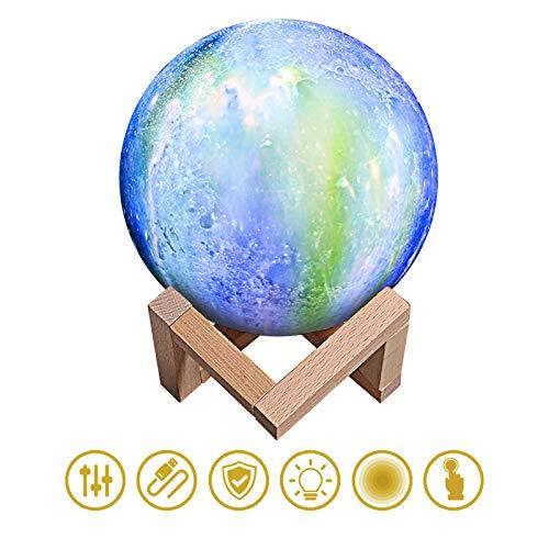 GIRLXV Gemalte Bunte Sterne 3D Druckten Mondlichter Ins Geschenkmondsternnachtlichtatmosphärenkarikaturschlafzimmer-Nachtgeschenke