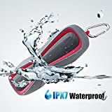 Waterproof IPX7 Wireless Bluetooth 4.1 Outdoor Speaker, Marine and Waterproof Bluetooth Speaker for iPhone, Android & iPod, Sandproof & Shockproof Outdoor Sport/Shower Speaker with Card Reader and Aux (Blue) (Pink)