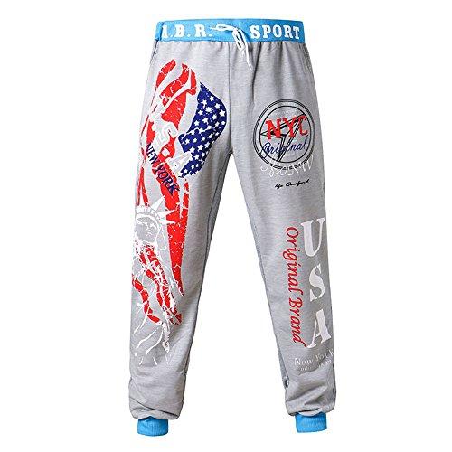 OSYARD Pantalon Homme Chino Slim, Hommes Sport Camouflage Ceintures Décontractées Pantalons Pantalon de Jogging Soupl
