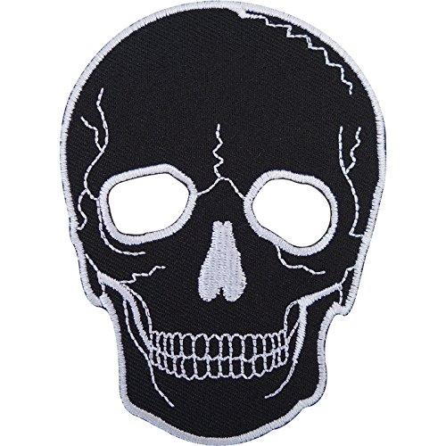 Máscara de calavera de motorista parche bordado coser en/hierro...