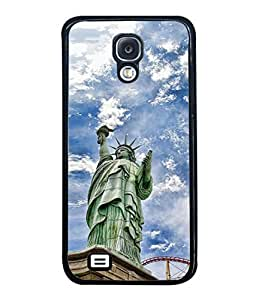 PrintVisa Designer Back Case Cover for Samsung Galaxy S4 Mini (statue of libery USA cloudy)