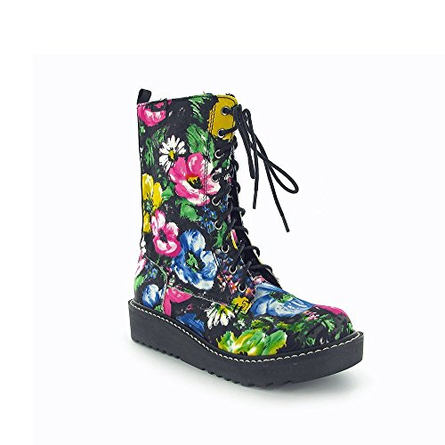 Rocket Dog - Blendz, Stivali Donna Black Floral